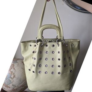 FIORUCCI Made in Italy Genuine Leather Rivet Tote